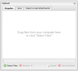 FileRun - Upload dialog